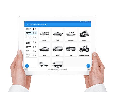 App para recibir vehículos