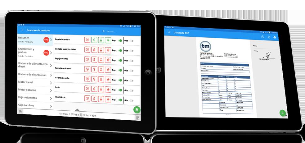 App administrativa para Talleres